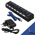 POWERTECH USB 3.0V Hub, 7 Port, PT-269